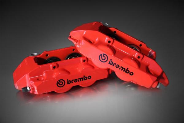 Brembo 4-Kolben Bremssattel links rot
