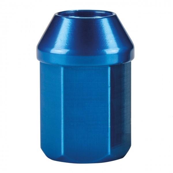 Kegel-Radmutter blau eloxiert